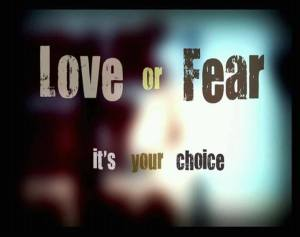 Love of Fear